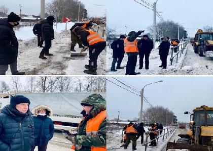Мониторинг выполнения работ по содержанию дорог в п.Лунево