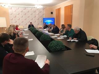 Заседание Общественной палаты по обсуждению поправок к конституции РФ